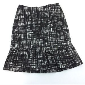 Ann Taylor Monochrome Lined Skirt NEW Size 2